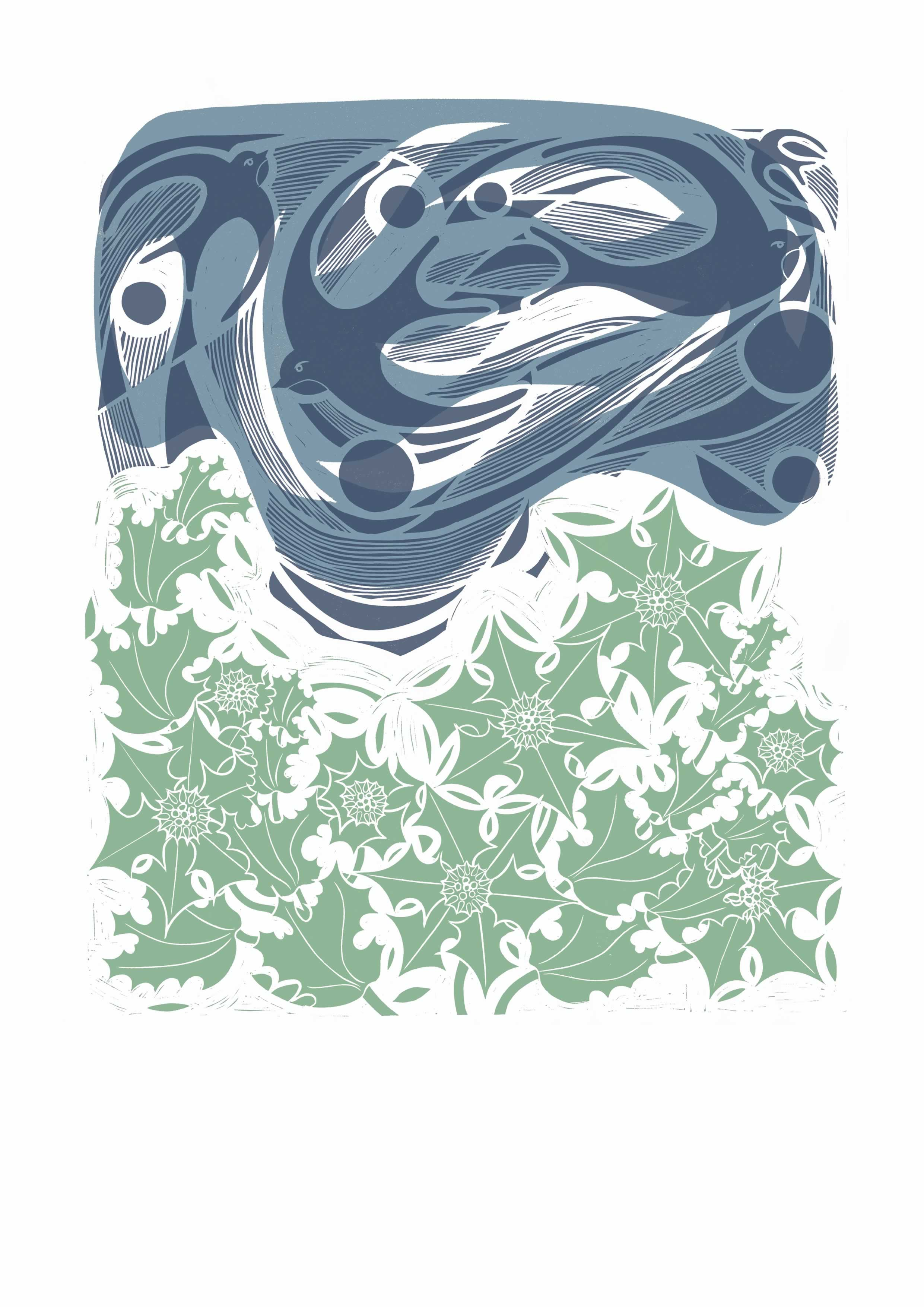 Swifts and Sea Holly Giclee