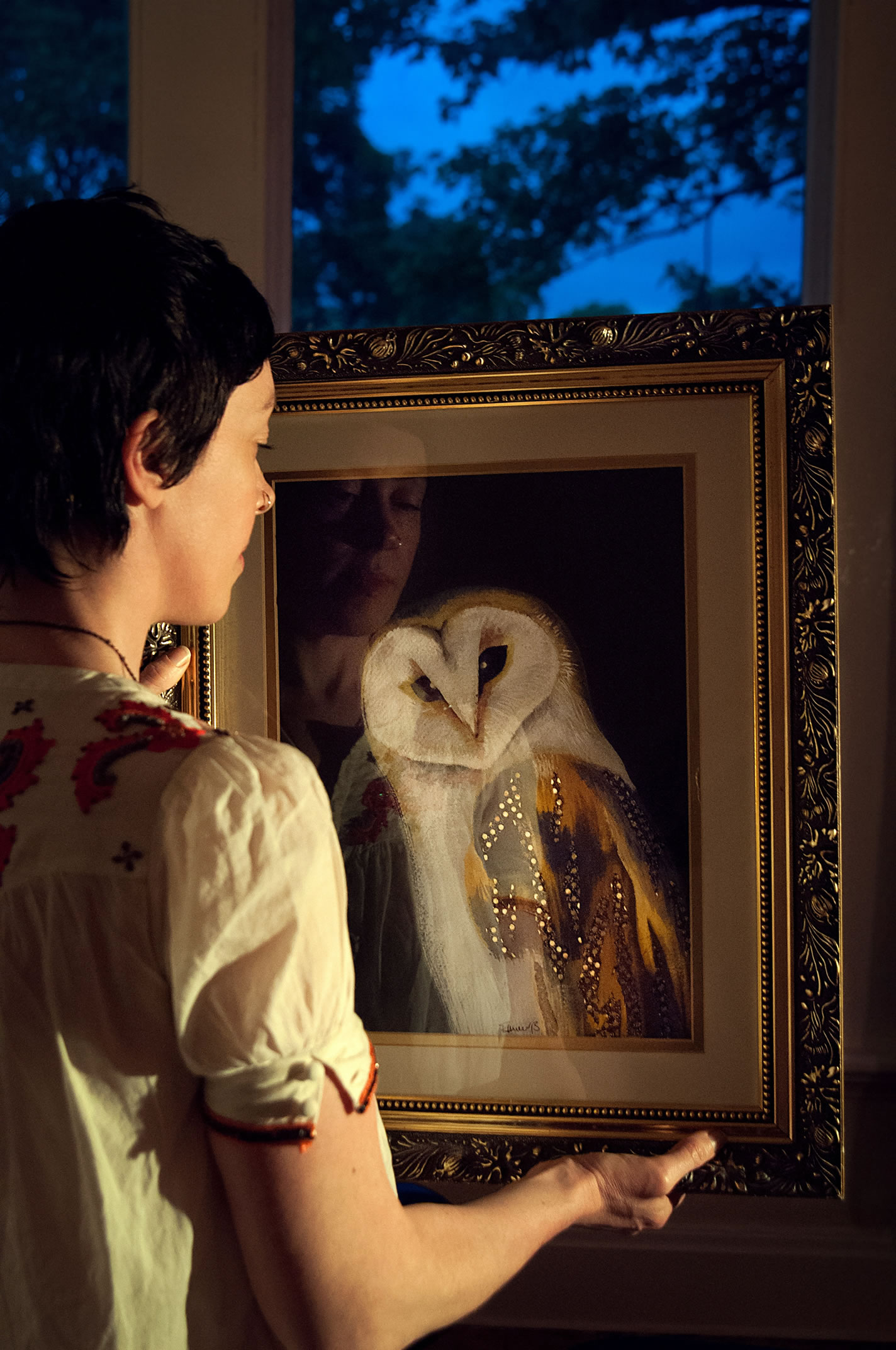 Portrait With Owl